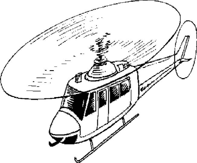 Coloriage et dessins gratuits Armes Hélicoptère militaire en action à imprimer
