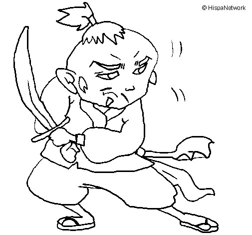 Coloriage et dessins gratuits Armes Japonais à imprimer