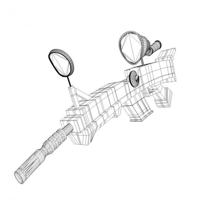 Coloriage et dessins gratuits Armes Mitraillette à imprimer