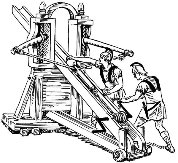 Coloriage et dessins gratuits Armes romaines à imprimer