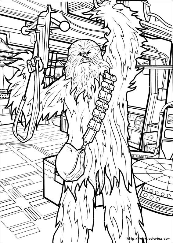 Coloriage et dessins gratuits Armes Star Wars à découper à imprimer