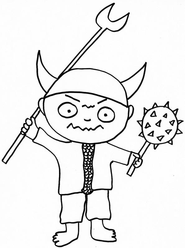Coloriage et dessins gratuits Armes Viking pour enfant à imprimer