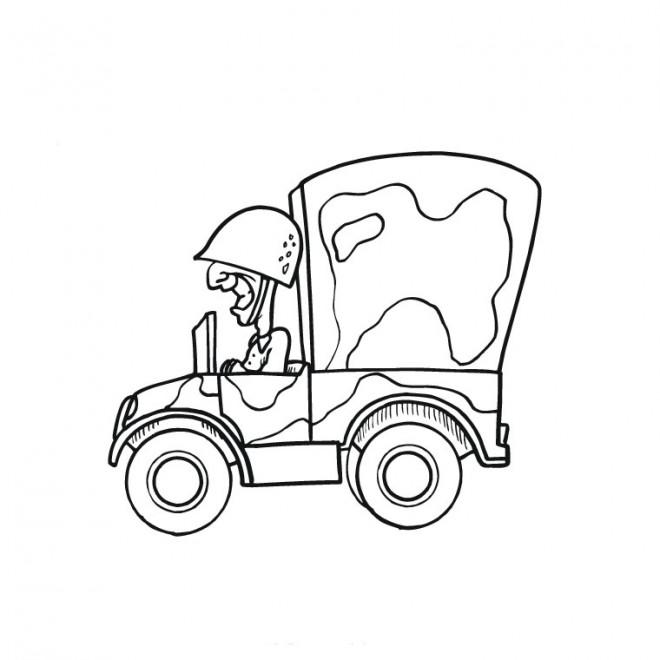 Coloriage et dessins gratuits Auto de guerre à imprimer