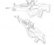 Coloriage dessin  d'un fusil à colorier