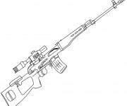 Coloriage Fusil de Chasse