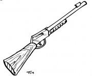 Coloriage Fusil stylisé