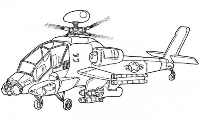 Coloriage et dessins gratuits Hélicoptère Cobra de Guerre à imprimer