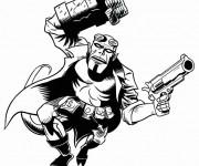 Coloriage Hellboy dessin en couleur