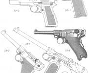 Coloriage et dessins gratuit Pistolet nerf à imprimer