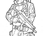 Coloriage Soldat militaire