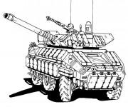 Coloriage et dessins gratuit Tank de guerre à imprimer