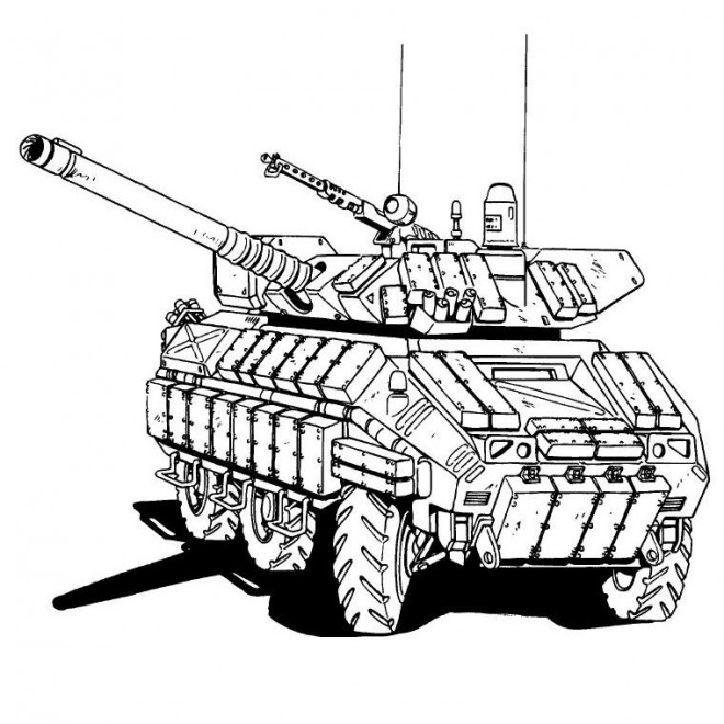 Coloriage et dessins gratuits Tank de guerre à imprimer