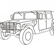 Coloriage Vehicule Hummer militaire