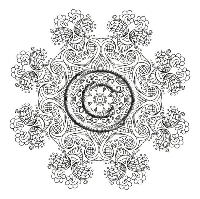 Coloriage et dessins gratuits Art Thérapeutique en noir et blanc à imprimer