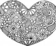 Coloriage et dessins gratuit Art Thérapie Amour à imprimer