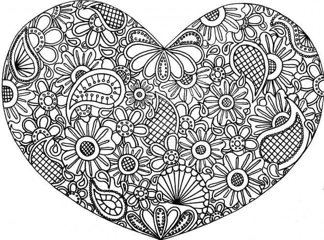 Coloriage et dessins gratuits Art Thérapie Amour à imprimer