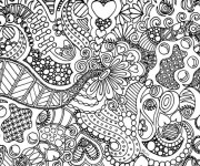 Coloriage et dessins gratuit Art Thérapie Anti-Stress à imprimer