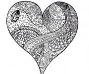Coloriage et dessins gratuit Art Thérapie Coeur à imprimer