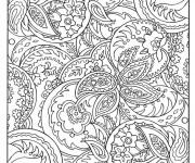 Coloriage et dessins gratuit Art Thérapie décoré à imprimer