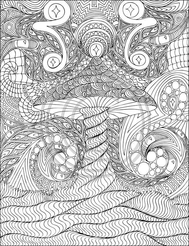 Coloriage et dessins gratuits Art Thérapie déstressant à imprimer