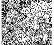 Coloriage et dessins gratuit Art Thérapie en noir et blanc à imprimer