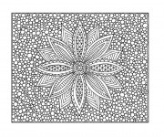 Coloriage et dessins gratuit Art Thérapie Fleur à imprimer