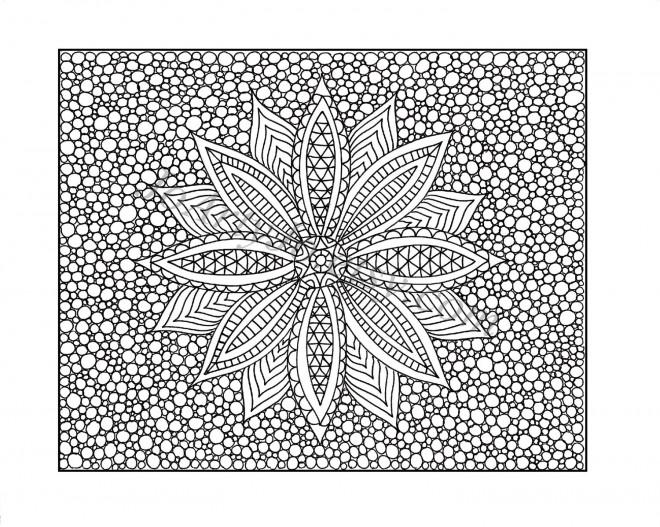 Coloriage et dessins gratuits Art Thérapie Fleur à imprimer