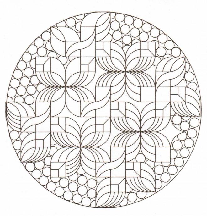 Coloriage et dessins gratuits Art Thérapie géométrique à imprimer