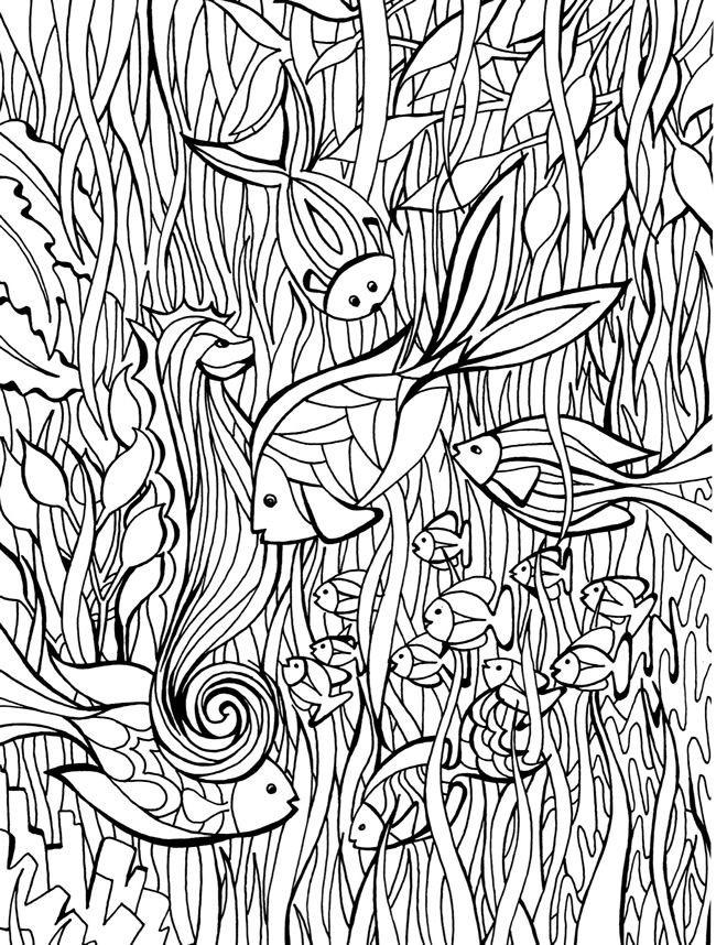 Coloriage et dessins gratuits Art Thérapie La Mer à imprimer