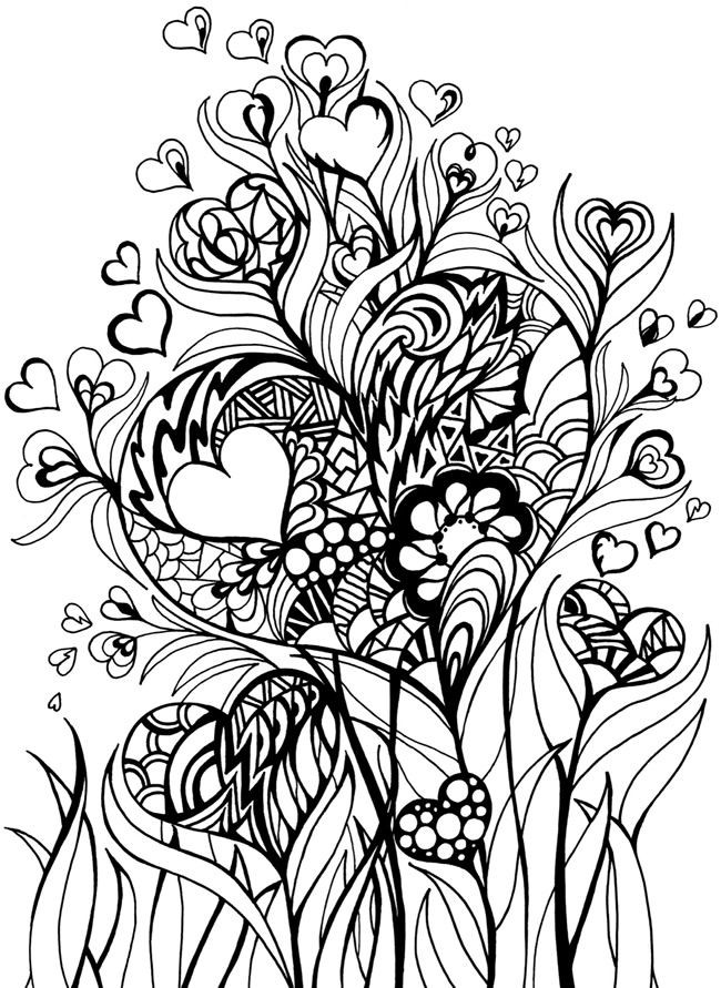 Coloriage et dessins gratuits Art Thérapie Nature et Amour à imprimer