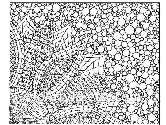 Coloriage et dessins gratuits Art Thérapie pour Adulte à imprimer
