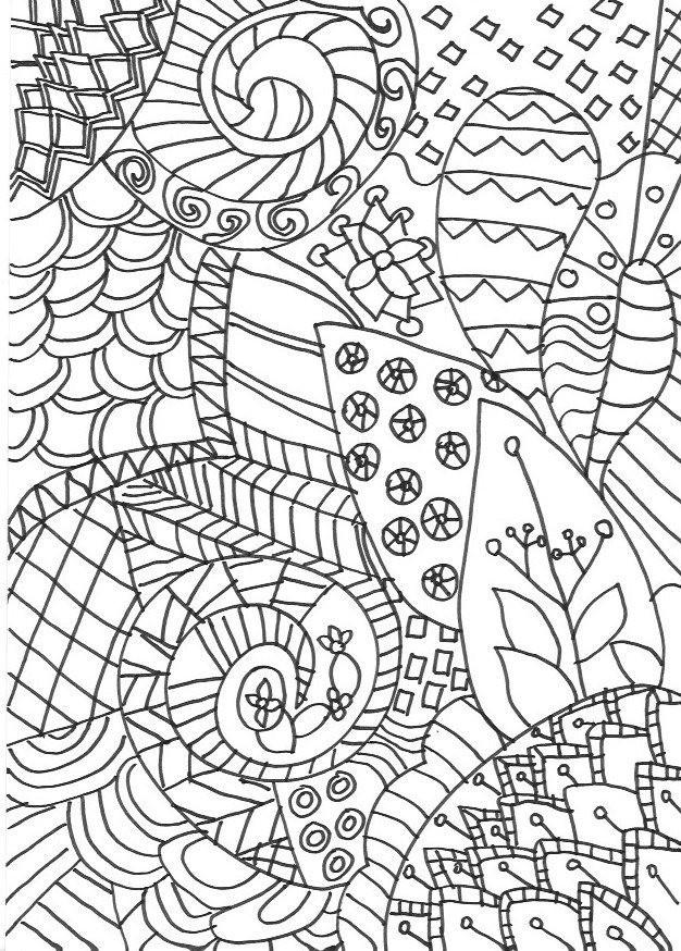 Coloriage et dessins gratuits Art Thérapie pour enfant à imprimer