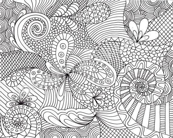 Coloriage et dessins gratuits Art Thérapie pour se détendre à imprimer
