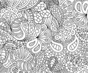 Coloriage et dessins gratuit Art Thérapie relaxant à imprimer