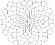 Coloriage et dessins gratuit Art Thérapie stylisé à imprimer