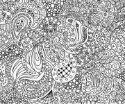 Coloriage et dessins gratuit Art Thérapie très difficile à imprimer