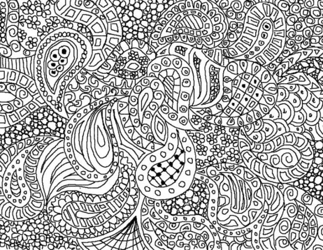 Coloriage et dessins gratuits Art Thérapie très difficile à imprimer