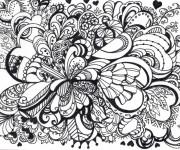 Coloriage et dessins gratuit Art Thérapie vecteur à imprimer