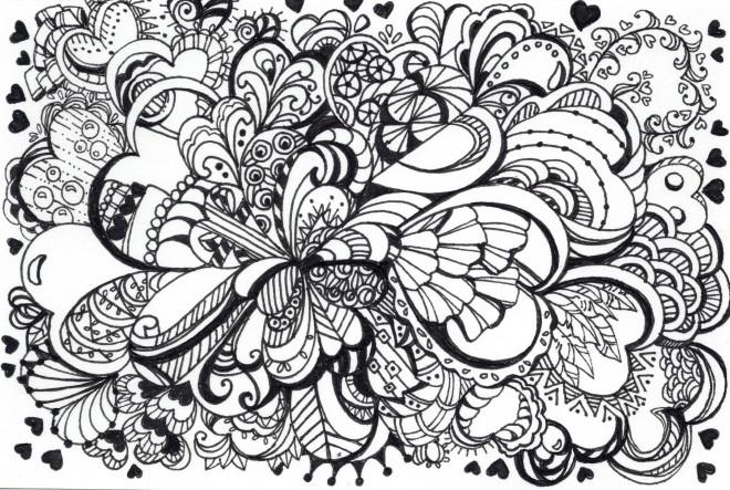 Coloriage et dessins gratuits Art Thérapie vecteur à imprimer