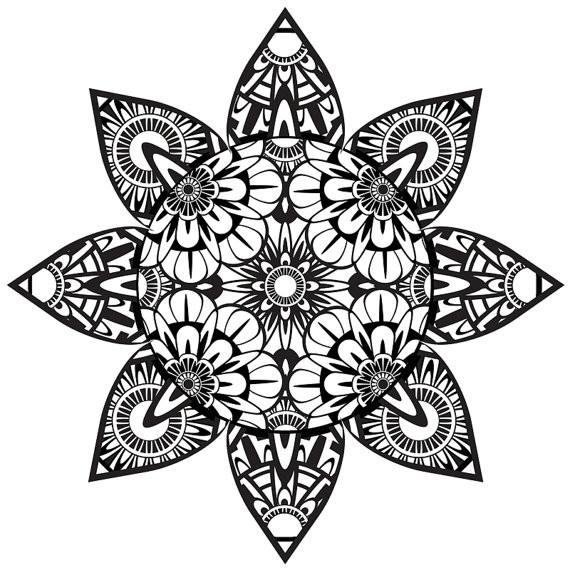 Coloriage et dessins gratuits Art Thérapie vectoriel à imprimer
