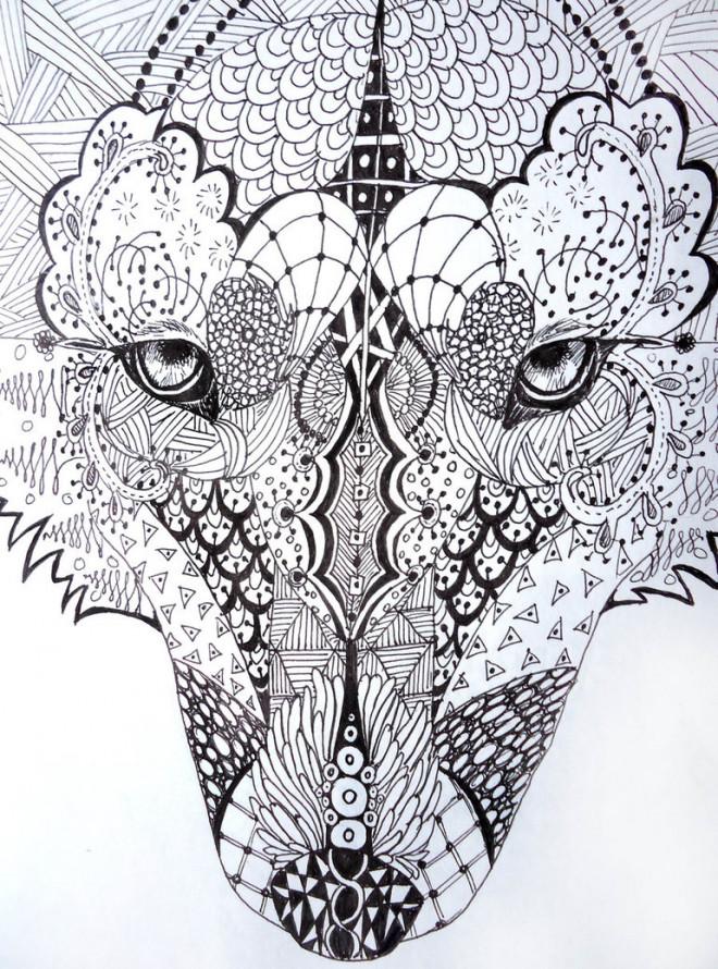 Coloriage et dessins gratuits Les Yeux de Tigre Art Thérapie à imprimer