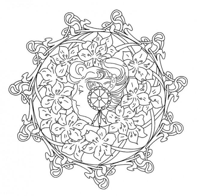 Coloriage et dessins gratuits Mandala Abstrait Art à imprimer