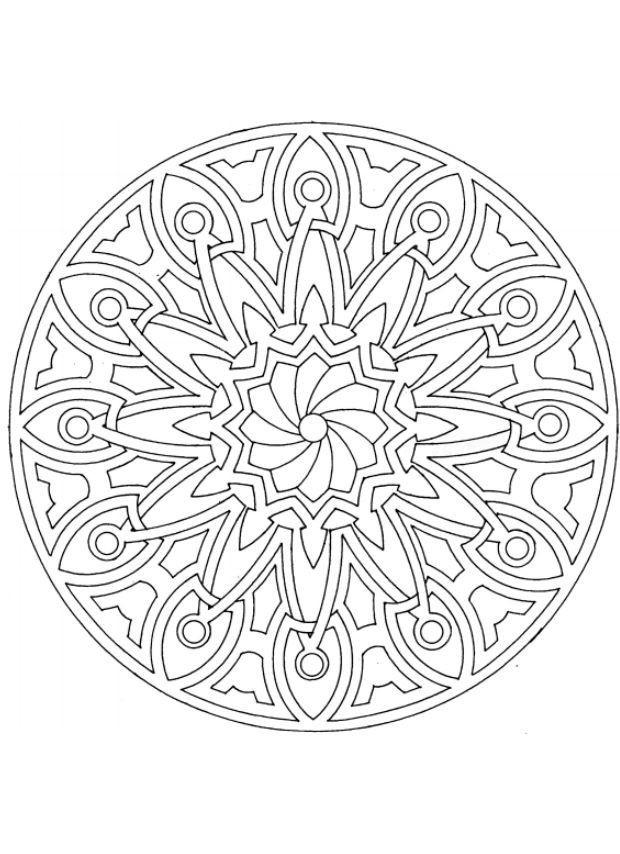 Coloriage et dessins gratuits Mandala Abstrait pour se détendre à imprimer