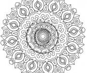 Coloriage et dessins gratuit Mandala Art Thérapie à imprimer