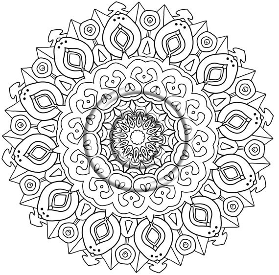 Coloriage mandala art th rapie dessin gratuit imprimer - Coloriage art therapie a imprimer ...