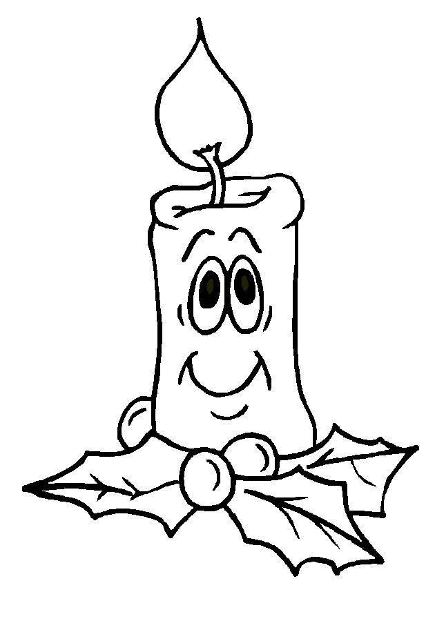 Coloriage et dessins gratuits Bougie et décoration de Noël à imprimer