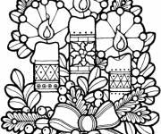 Coloriage et dessins gratuit Bougies de Noel à imprimer