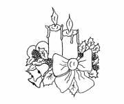 Coloriage dessin 4 bougies de l'avent