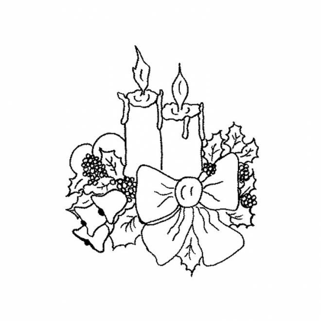 Coloriage et dessins gratuits dessin 4 bougies de l'avent à imprimer