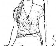 Coloriage dessin  Célébrités 15